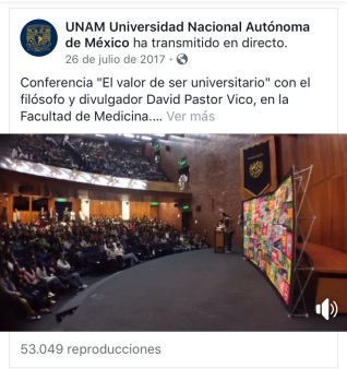 CONFERENCIA ONLINE EL VALOR DE SER UNIVERSITARIO