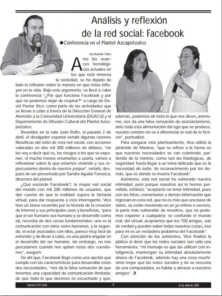 GACETA CCH UNAM 2